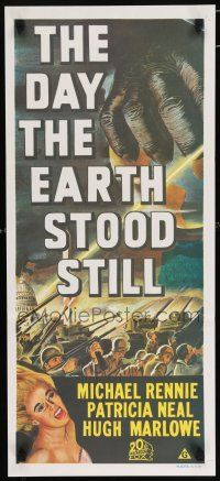 5b023 DAY THE EARTH STOOD STILL Aust daybill R70s Robert Wise, art of giant hand & Patricia Neal!
