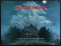 5b195 FRIGHT NIGHT British quad '85 if you love being scared it'll be the night of your life!