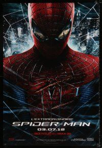 5b007 AMAZING SPIDER-MAN teaser DS Canadian 1sh '12 Andrew Garfield over city!