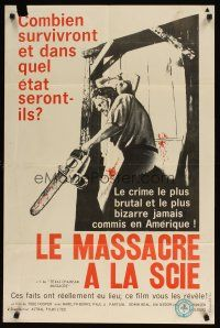 5b008 TEXAS CHAINSAW MASSACRE French Canadian '74 Tobe Hooper cult classic slasher horror!