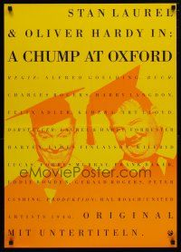 5b014 CHUMP AT OXFORD German R90s great image of Laurel & Hardy wearing cap and gown!