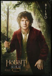 5b019 HOBBIT: AN UNEXPECTED JOURNEY teaser DS Singapore '12 great image of Martin Freeman as Bilbo!