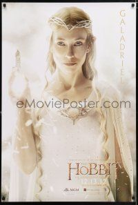 5b020 HOBBIT: AN UNEXPECTED JOURNEY teaser DS Singapore '12 image of Cate Blanchett as Galadriel!