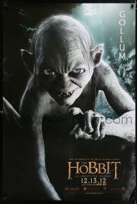 5b017 HOBBIT: AN UNEXPECTED JOURNEY teaser DS Singapore '12 cool image of Gollum, Andy Serkis!