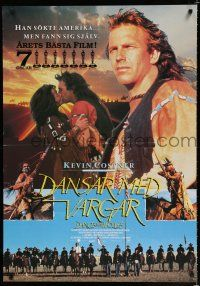 5b005 DANCES WITH WOLVES Swedish '90 Kevin Costner & Native American Indians, different images!