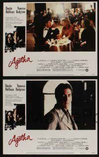 5g038 AGATHA 8 LCs '79 images of Dustin Hoffman & Vanessa Redgrave as Christie!