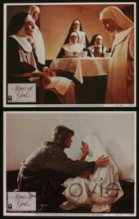 5g039 AGNES OF GOD 8 LCs '85 directed by Norman Jewison, Jane Fonda, nun Meg Tilly!