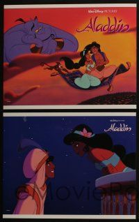 5g041 ALADDIN 8 LCs '92 classic Disney Arabian cartoon, great images of Prince Ali & Jasmine!