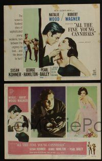 5g044 ALL THE FINE YOUNG CANNIBALS 8 LCs '60 Robert Wagner & sexy Natalie Wood are young moderns!