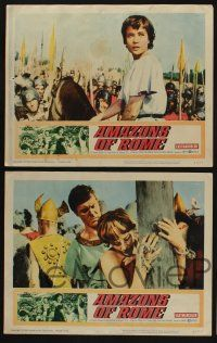 5g047 AMAZONS OF ROME 8 LCs '63 Louis Jourdan, they fought like 10,000 unchained tigers!