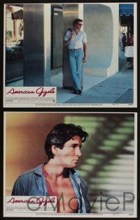 5g048 AMERICAN GIGOLO 8 LCs '80 c/u of handsomest male prostitute Richard Gere & Lauren Hutton!
