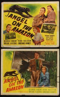 5g051 ANGEL ON THE AMAZON 8 int'l LCs '48 Vera Ralston, George Brent & Constance Bennett!