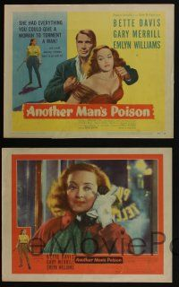 5g053 ANOTHER MAN'S POISON 8 LCs '52 great images of Gary Merrill & Bette Davis!