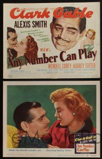 5g054 ANY NUMBER CAN PLAY 8 LCs '49 sexy Alexis Smith is Clark Gable's new number, Audrey Totter!