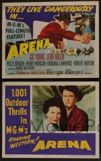 5g056 ARENA 8 LCs '53 the first 3 dimension cowboy western, 1,001 outdoor thrills!