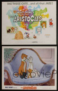 5g016 ARISTOCATS 9 LCs '71 Walt Disney feline jazz musical cartoon, great colorful images!
