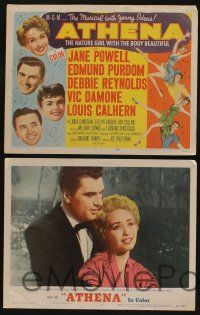 5g059 ATHENA 8 LCs '54 nature girl Jane Powell, Debbie Reynolds, Edmund Purdom!