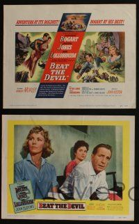 5g073 BEAT THE DEVIL 8 LCs '53 Humphrey Bogart with sexy Gina Lollobrigida & Jennifer Jones!