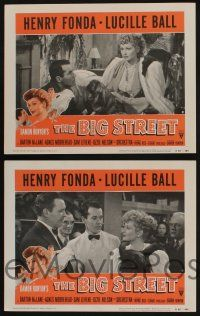 5g077 BIG STREET 8 LCs R55 Henry Fonda, sexy Lucille Ball, her best friend is a dollar!