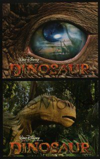 5g019 DINOSAUR 9 LCs '00 Walt Disney, great images of prehistoric world!