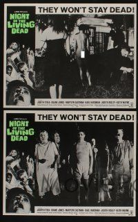 5g001 NIGHT OF THE LIVING DEAD 8 LCs '68 George Romero classic, zombies won't stay dead!
