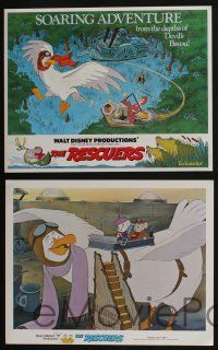 5g025 RESCUERS 9 LCs '77 Disney mouse mystery adventure cartoon from the depths of Devil's Bayou!