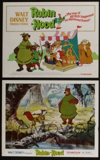 5g026 ROBIN HOOD 9 LCs '73 Walt Disney's cartoon version, the way it REALLY happened!