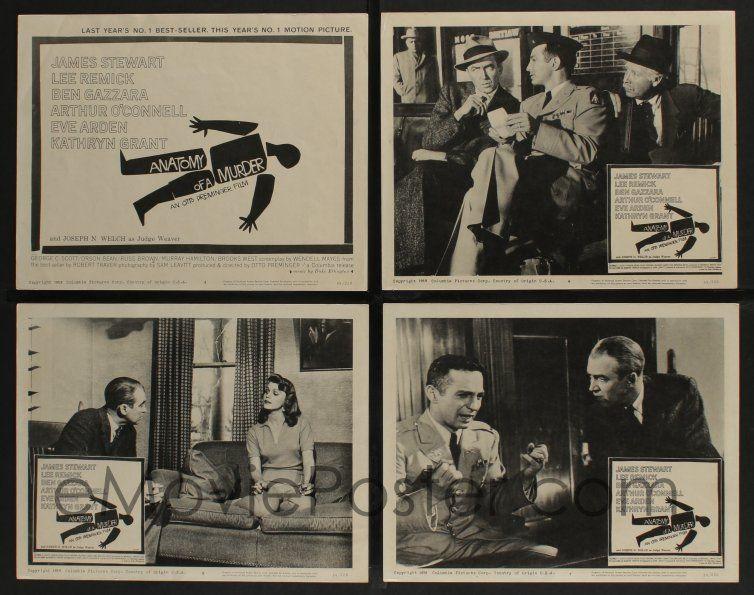 eMoviePoster.com: 5g050 ANATOMY OF A MURDER 8 LCs \'59 Otto Preminger ...