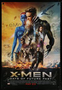 5t170 X-MEN: DAYS OF FUTURE PAST signed DS advance D 1sh '14 by THIRTEEN top cast members!