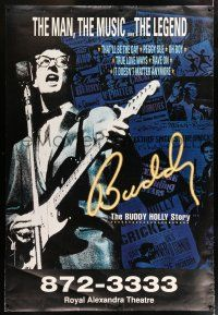 6c001 BUDDY THE BUDDY HOLLY STORY DS Canadian stage bus stop '90s Holly performing!