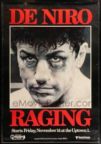 6c002 RAGING BULL DS Canadian bus stop '80 Scorsese, Hagio boxing art of De Niro, incredibly rare!