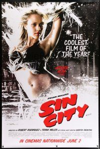 6c004 SIN CITY DS English bus stop '05 graphic novel by Frank Miller, sexy Jessica Alba as Nancy!