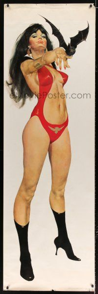 6c038 VAMPIRELLA 24x75 commercial poster '72 Gonzalez art of Trina Robbins' sexy creation!