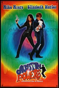 6c006 AUSTIN POWERS: INT'L MAN OF MYSTERY English 40x60 '97 Mike Myers & sexy Elizabeth Hurley!