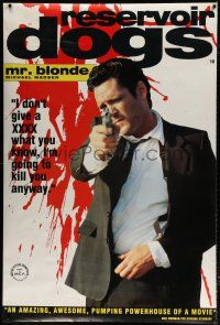 6c007 RESERVOIR DOGS English 40x60 '92 Quentin Tarantino, Michael Madsen as Mr. Blonde!