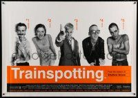 6c008 TRAINSPOTTING English 40x55 '96 heroin drug addict Ewan McGregor, directed by Danny Boyle!