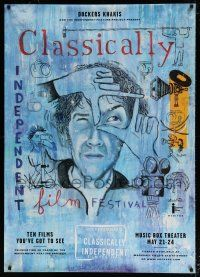 6c040 CLASSICALLY INDEPENDENT FILM FESTIVAL 32x45 film festival poster '99 art by Josh Gosfield!