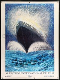 6c024 CANNES FILM FESTIVAL 1982 French 1p '82 cool art of huge ship by Federico Fellini!