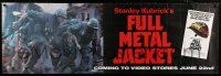 6c064 FULL METAL JACKET 20x60 video poster '87 Stanley Kubrick Vietnam War movie, Castle art!
