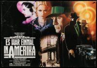 6c014 ONCE UPON A TIME IN AMERICA German 33x47 '84 Sergio Leone, De Niro, different Casaro art!