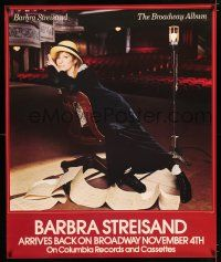 6c042 BARBRA STREISAND THE BROADWAY ALBUM 36x43 music poster '85 cool photo of Streisand on stage!