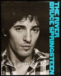 6c043 BRUCE SPRINGSTEEN 37x47 music poster '80 The River, cool close up image of The Boss!