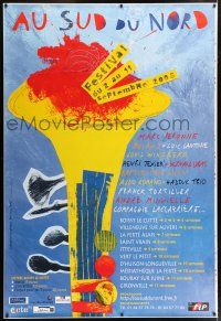 6c034 AU SUD DU NORD 47x69 French music poster '05 cool colorful wild art by Fresil Beccaria!