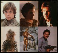 6c054 EMPIRE STRIKES BACK special 34x38 '83 Luke, Leia, Han Solo, Chewbacca, C-3PO & more!