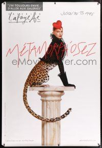 6c029 GALERIES LAFAYETTE DS 47x68 French advertising poster '00s image of half-woman half-leopard!