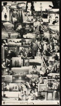 6c055 HOLLYWOOD ENDING advance special 28x50 '02 Woody Allen, final frames from 52 different movies