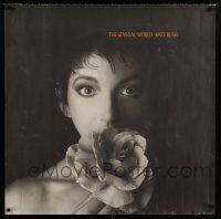 6c044 KATE BUSH 36x36 music poster '89 cool close-up of pretty singer w/flower, The Sensual World!