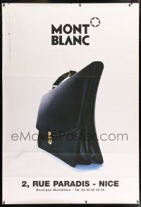 6c030 MONT BLANC 47x69 French advertising poster '90s cool image of really nice briefcase!
