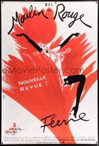 6c031 MOULIN ROUGE 47x69 French advertising poster '00s art of sexy dancer by Rene Gruau!