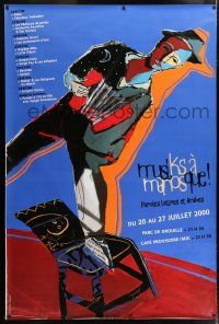 6c036 MUSIKS A MANOSQUE 47x69 French music poster '00 Corvaisier art of man on chair!